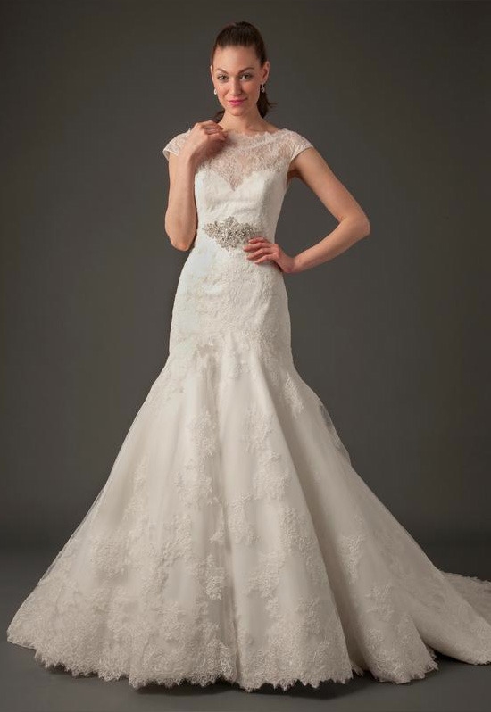 High Neck Mermaid Gown in Lace