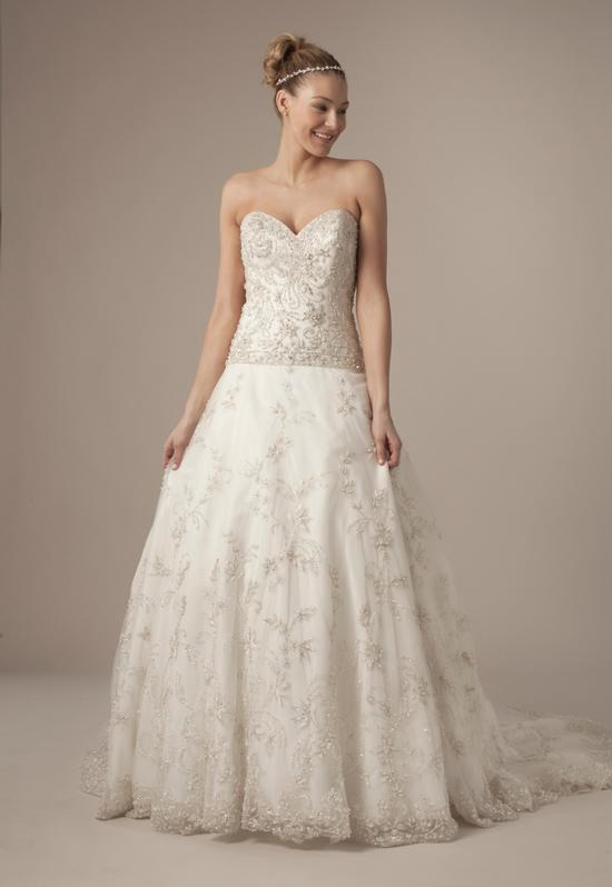 Sweetheart A-Line Gown in Beaded Embroidery