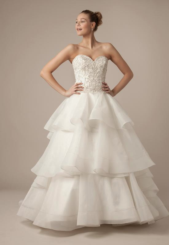 Sweetheart Ball Gown in Beaded Embroidery