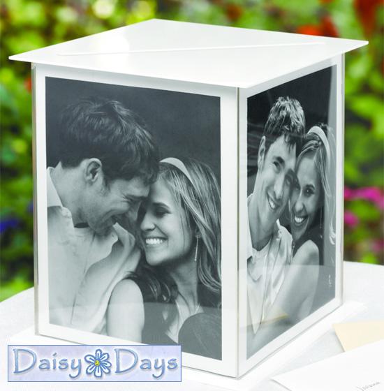 Wednesday Wedding Accessory Acrylic Photo Frame Card Box Holder