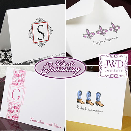 Giveaway 75 jwdboutique gift card for stylish keepsakes stationery negle Images