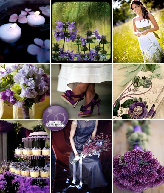 Deep Purple And Green Weddings