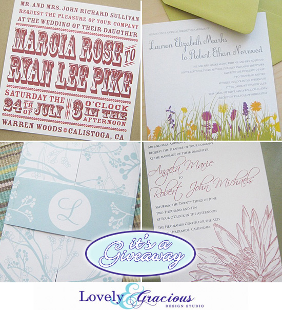 Wedding Invitation Giveaway: Giveaway : Printable Wedding Invitation Set From Lovely