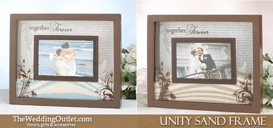 Wednesday Wedding Accessory Unity Sand Photo Frame