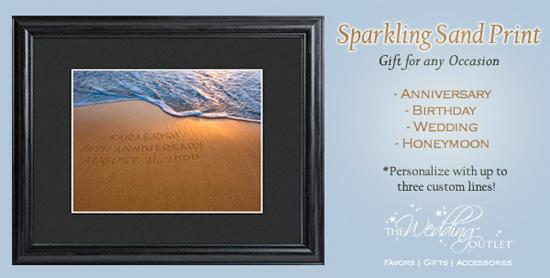 Wednesday Wedding Accessory : Sparkling Sand Print