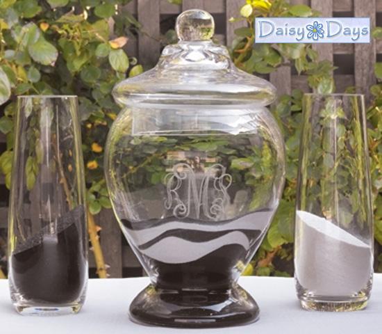 Wednesday Wedding Accessory Keepsake Unity Sand Vessel Vase Set