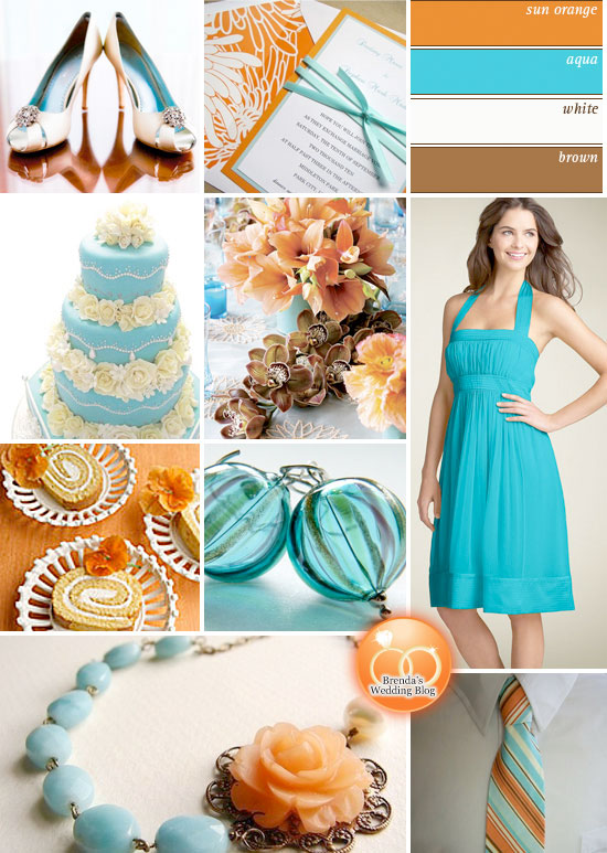Orange And Aqua: Aqua Blue And Orange Weddings