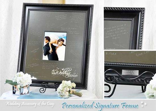 wednesday wedding accessory personalized signature frame