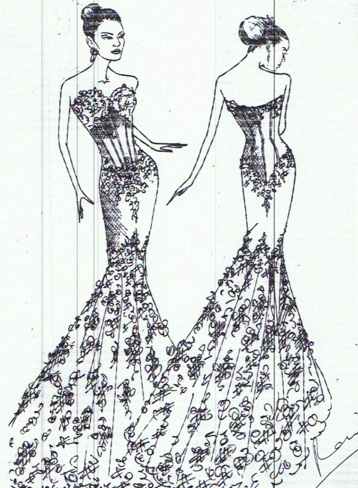 """""""celebrity gown predictions"""" with sketchesst pucchi"""