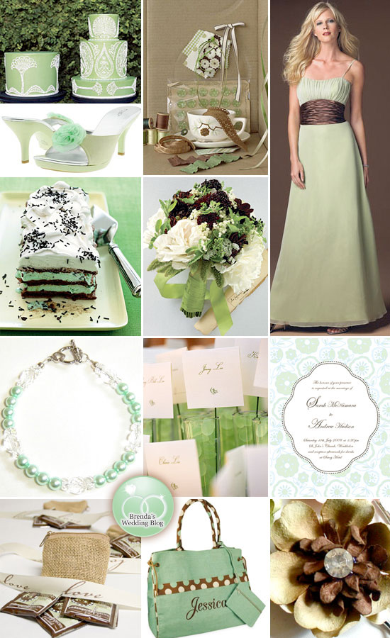 Wedding decoration ideas brown and green mint green and chocolate wedding decoration ideas brown and green mint green and chocolate brown wedding junglespirit Choice Image