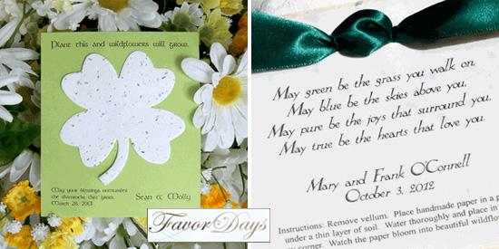 Irish Celtic Themed Wedding Favors For St Patricks Day