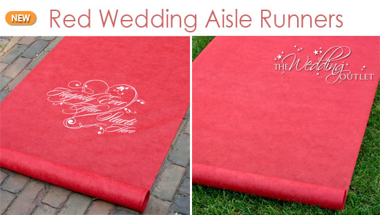 Wednesday Wedding Accessory Red Aisle Runners