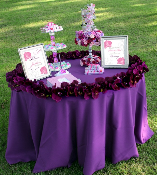 photo shoot an orchid inspired bridal shower in a walnut grove