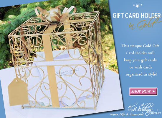 Wednesday Wedding Accessory Gold Gift Card Holder