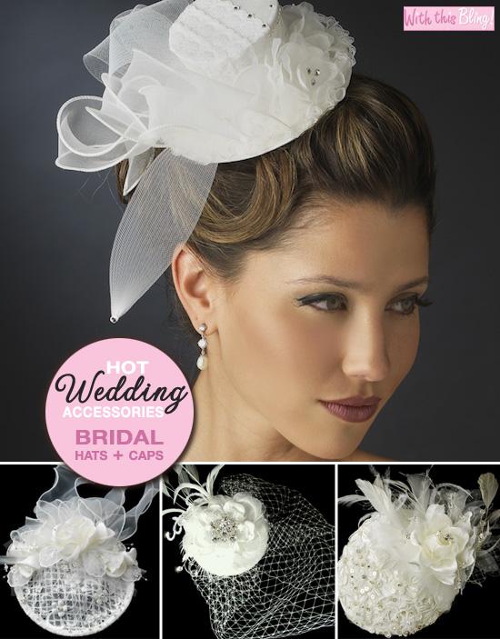 bridal hats and caps