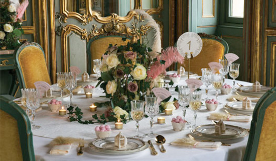 The top 3 english wedding styles enchanted garden is a delicate look that brings the romance of an english summers day to your wedding reception with pretty white doves junglespirit Image collections
