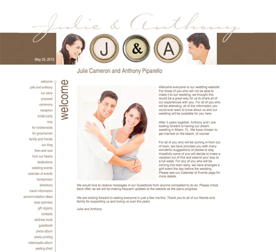 welcome message for wedding website
