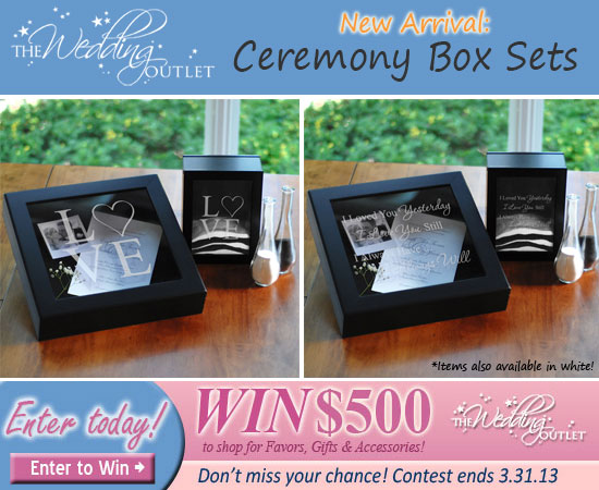 wedding ceremony shadow box sets
