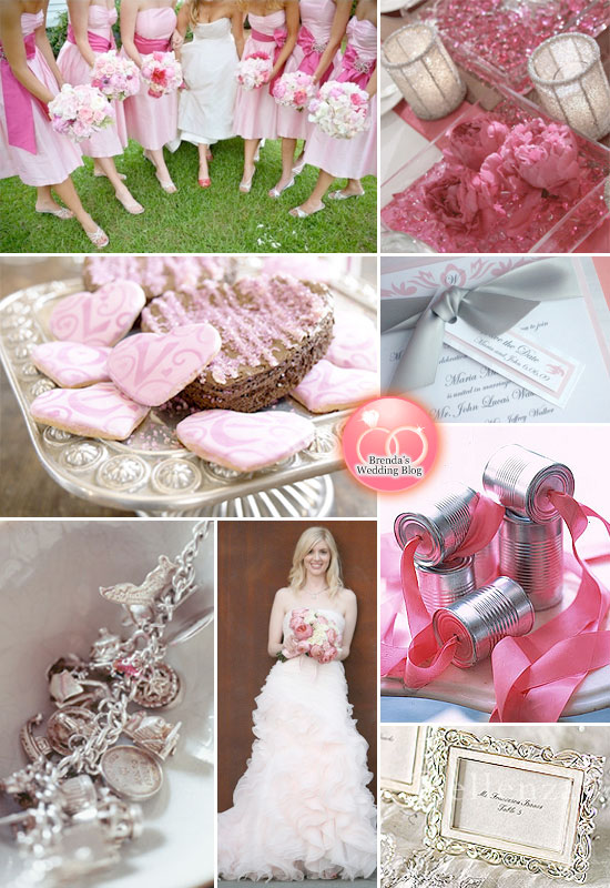 pink and silver weddings