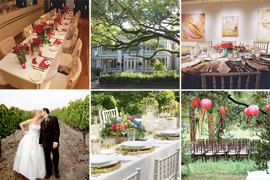 Small weddings big on charm five unique wedding venues to for Small intimate wedding ideas