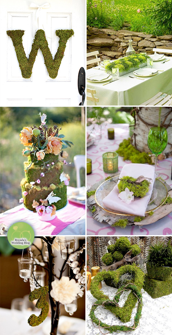 10 Ways To Decorate With Green Moss: Green Moss Wedding Ideas
