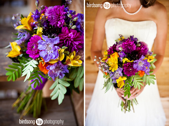 Real Wedding A Gorgeous Mountaintop With Wildflowers