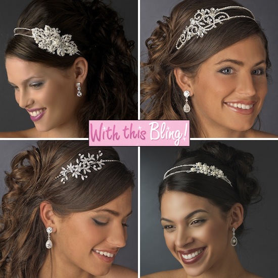 ... Bling feature a beautifully designed adornment that is placed on one  side of the headband and many also feature pearl accents too. 476e9df18a4