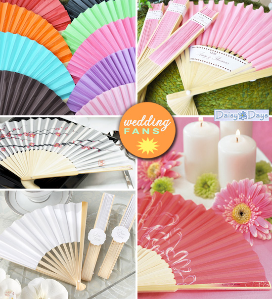 wedding favor fans