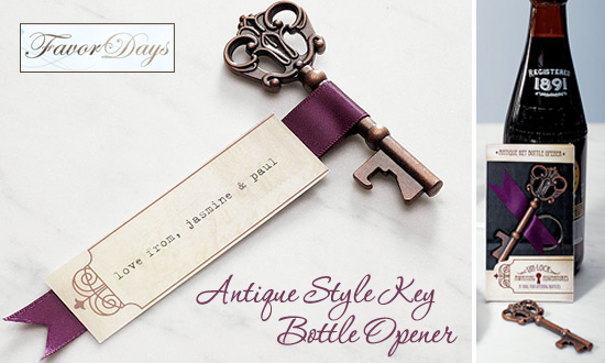 Friday Favor of the Day   Antique Style Key Bottle Opener. Antique Wedding Favors. Home Design Ideas