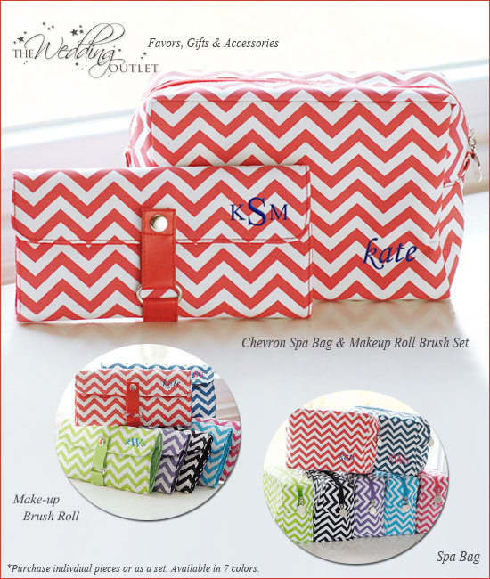personalized chevron wedding gifts