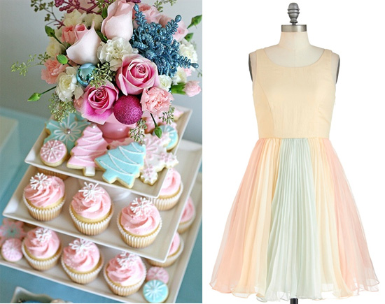 A Vintage Pastel Holiday The Dress Party Decor