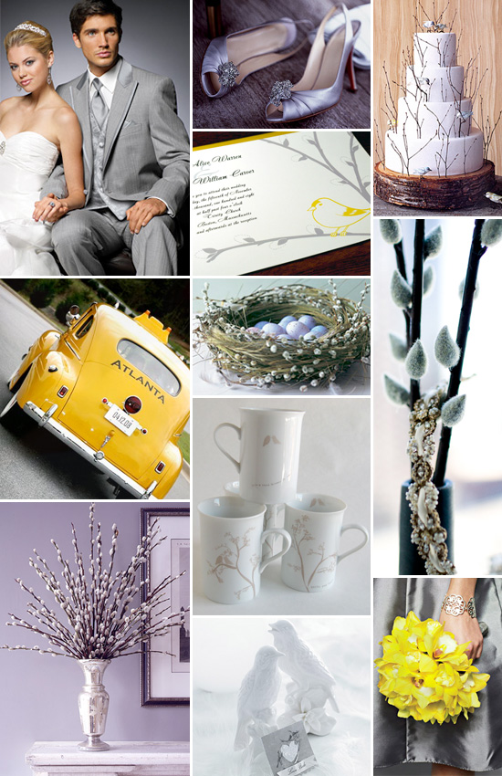 A Spring Gray and Yellow Wedding