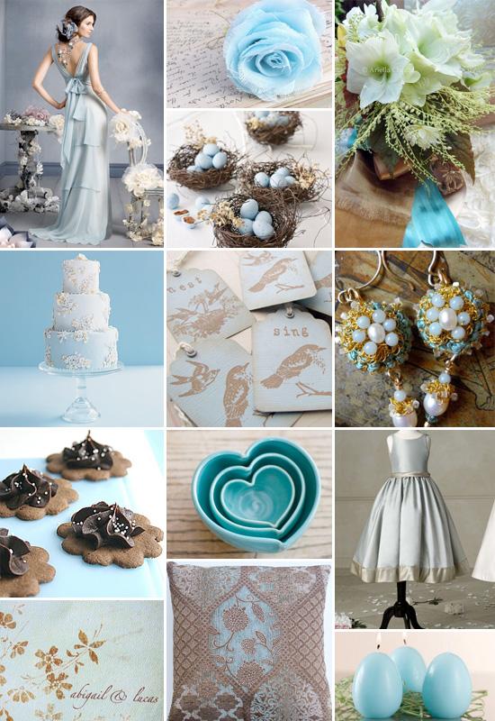 robin 39 s egg blue and brown weddings