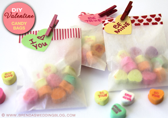 Quick And Easy Diy Valentine S Day Candy Bags With Conversation