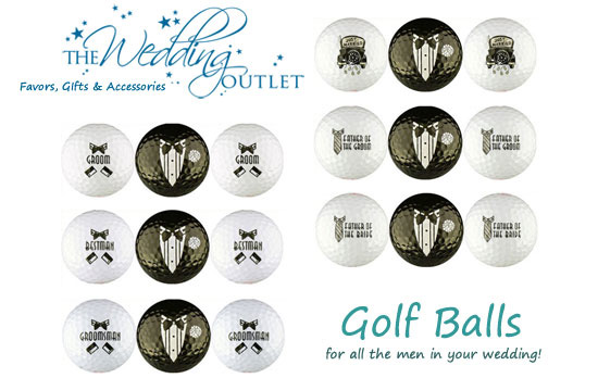 golf ball wedding favors