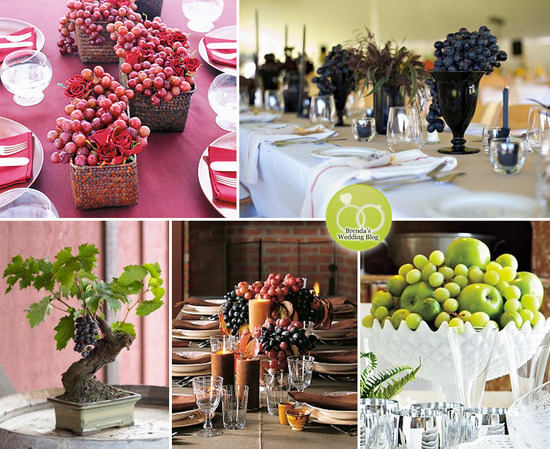 Winery Wedding Centerpieces Bouquets Vineyard Themed Ideas