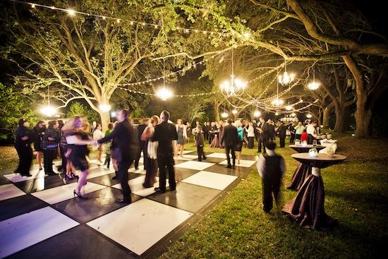 Green And Purple Outdoor Wedding In Charleston, South Carolina