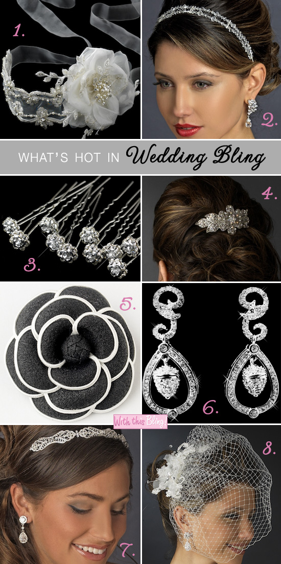 wedding bling bridal hair accessories