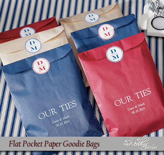 Friday Favor of the Day : Flat Pocket Paper Goodie Bags