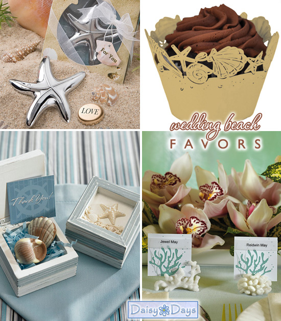 Beach and Destination Weddings : Favors and Accessories