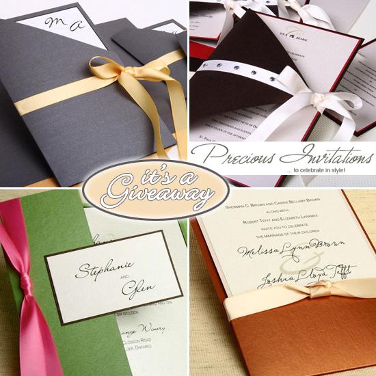 Giveaway A Beautiful Custom Wedding Invitation Set