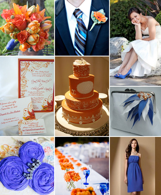 Wedding Inspiration Board : Royal Blue and Orange