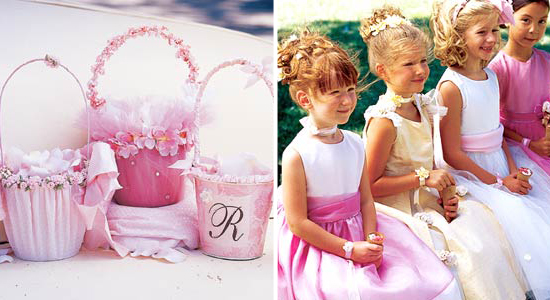 How To Make A Flower Girl Basket With Fabric : Flower girl accessories easy diy projects