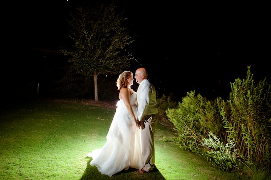 bride and groom kissing at night | photo by www.chiphotographyofcharleston.com