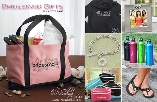 Ideas For Bridesmaid Gift Bags : Bridesmaid Gifts : fill a personalized tote with goodies