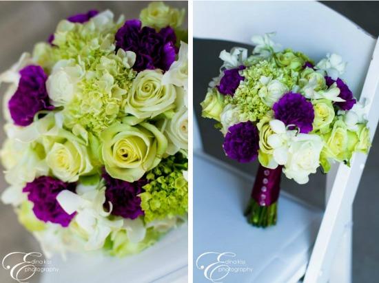 Vibrant Purple and Green Beach Wedding in Florida