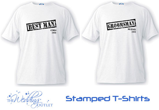 stamped best man and groomsman t-shirts