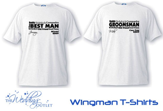 wingman best man and groomsman t-shirts