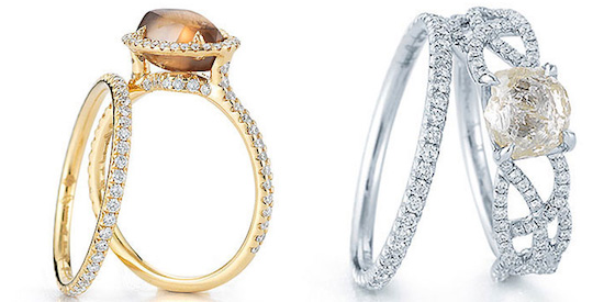 one of a kind engagement rings rare unique rough diamond jewelry - One Of A Kind Wedding Rings