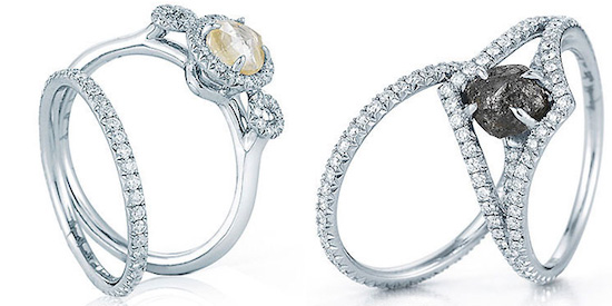 one of a kind enement rings rare unique rough diamond jewelry - One Of A Kind Wedding Rings